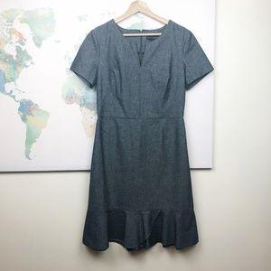 NWT Banana Republic Bluish Gray Career Dress Sz 10